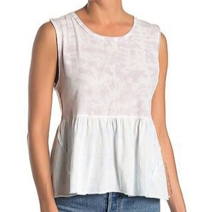 We the Free Free People Anytime Tank Tie Dye Top M